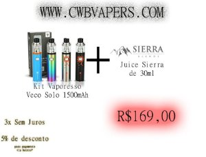 Kit Vaporesso Veco Solo 1500mAh + Juice da Sierra 30ml