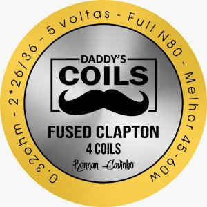 Daddy's Coils – Fused Clapton – 4 un