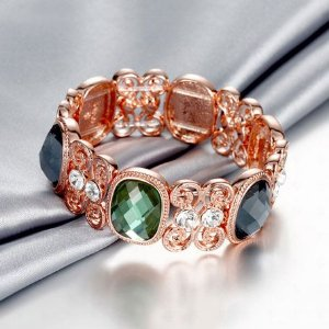 Bracelete Luxo banhado a Ouro Rosê 18k