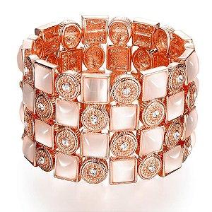Bracelete banhado a Ouro Rosê 18k
