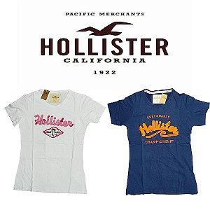 Camiseta feminina Baby Look Hollister Co. -  tamanho G e GG