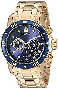 Relógio Invicta  0073 Pro Diver Collection original banhado a ouro 18k, analógico e Cronógrafo