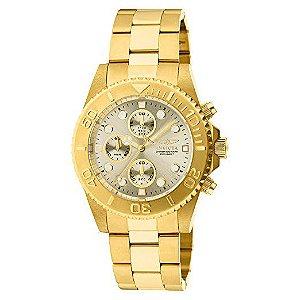 Relógio Invicta 1774 Pro-Diver Collection banhado a ouro 18k
