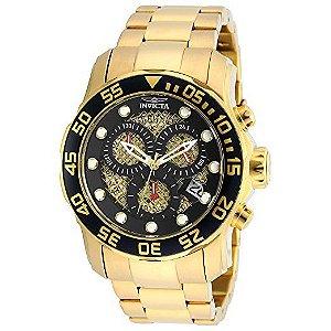 Relógio Invicta 19837SYB Pro Diver original banhado a ouro 18k