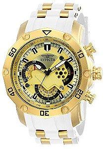 Relógio Invicta Pro Diver 23424 original de aço inoxidável banhado a ouro 18k