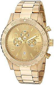 Relógio Invicta 1270 Specialty original de aço inoxidável banhado a ouro 18k