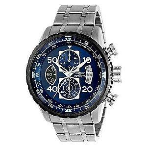 Relógio Invicta 22970 Aviator original de aço inoxidável