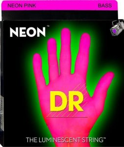 Encordoamento Dr Strings Contrabaixo 4 Cordas (.045-.105) -NPB-45- HI-Def cor rosa-The Luminescent String