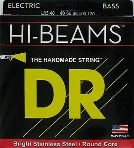 Encordoamento Dr Strings Contrabaixo 5 Cordas (.040-.120) -LR5-40- HI-Beam- The Handmade strings