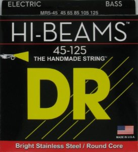 Encordoamento Dr Strings Contrabaixo 5 Cordas (.045-.125) -MR5-45- HI-Beams-The Handmade strings