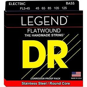 Encordoamento Dr Strings Contrabaixo 5 Cordas (.045-.125) -FL5-45- Flatwound-The Handmade strings