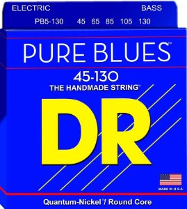 Encordoamento Dr Strings Contrabaixo 5 Cordas (.045-.130) -PB5-130-The Handmade strings-Pure Blues