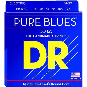 Encordoamento Dr Strings Contrabaixo 6 Cordas (.030-.125) -PB6-30-The Handmade strings-Pure Blues