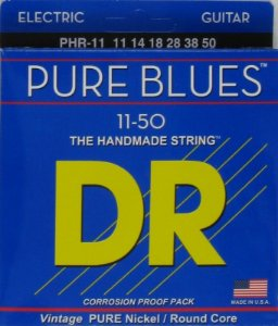 Encordoamento Dr Strings guitarra 6 Cordas (.011-.050) - PHR-11-The Handmade Strings Pure Blues