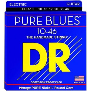 Encordoamento Dr Strings guitarra 6 Cordas (.010-.046) - PHR-10-The Handmade Strings Pure Blues