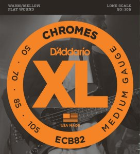 Encordoamento Daddario Contrabaixo 050-105 Chromes Medium Gauge ECB82 Long Scale