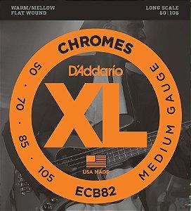 Encordoamento Daddario Contrabaixo 050-105 Chromes Medium Gauge ECB82 Long Scale