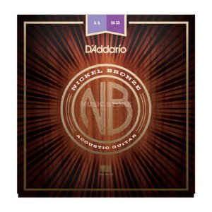 Encordoamento Violão Daddario 6 Cordas (.011-.052) - Custom Light Gauge - (NB1152) - (Nickel/Bronze)