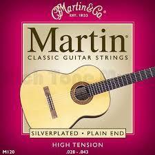 Encordoamento Violão Martin Nylon M120 (high tension)