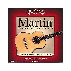 Encordoamento Violão Nylon Martin M220 (regular tension)