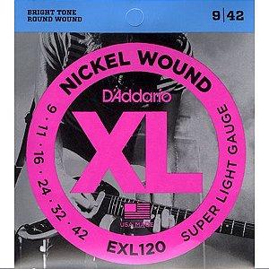 Encordoamento Guitarra Daddario 009-042 - EXL120-B