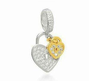 Berloque cadeado coração