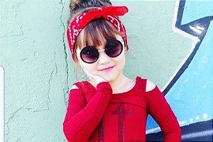 Óculos de Sol Infantil. Óculos redondo retrô d88923bbbd