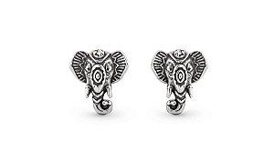 Brinco Segundo Furo Elefante Indiano Prata 925