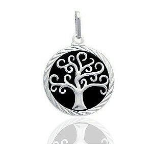 Pingente Mandala Árvore da Vida Prata 925