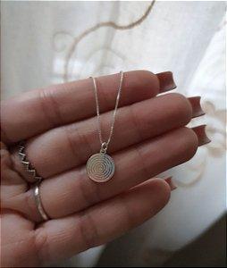 Colar Mandala Pai Nosso 11mm Prata 925