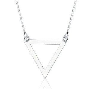 Colar Triângulo Vazado Fixo Prata 925