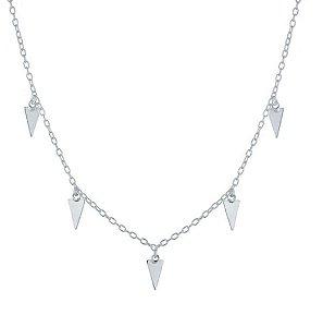 Choker Triângulos Prata 925
