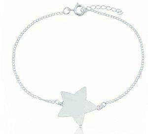 Pulseira Estrela Lisa Prata 925