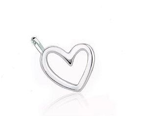 Pingente Coração Vazado Prata 925