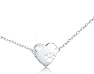 Pulseira Coração Pata Prata 925