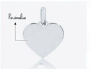 Pingente Coração Personalizado 7mm Prata 925