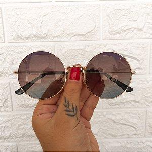 Óculos Bela Preto/Dourado