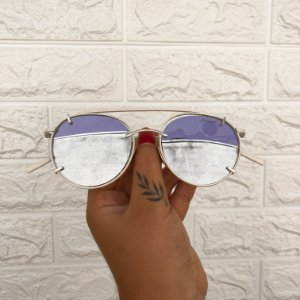 Óculos Gabi Bege/Prata