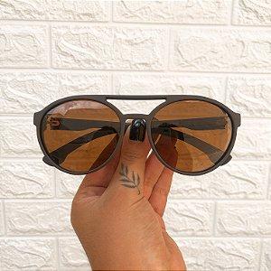 Óculos Maike Marrom Fosco