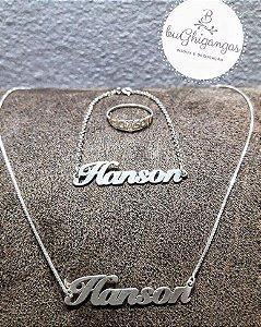 Kit especial Hanson 25 anos em prata 925