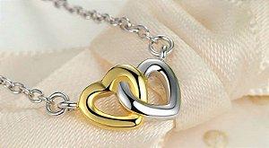 conjunto amor em prata 925