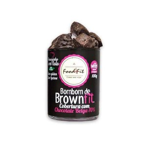 Amorzinho em Lata Bombom BrownFit Chocolate Belga 70% (100g) - Food4fit