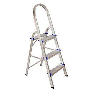Escada de Alumínio Doméstica com 3 Degraus REAL 13411