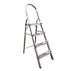 Escada Doméstica com 4 Degraus em Alumínio REAL 13412