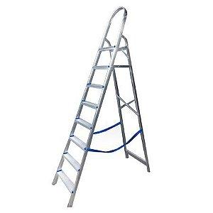 Escada Doméstica com 8 Degraus em Alumínio