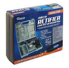Mini Micro Retífica A Bateria Sem Fio + 62 Acessorios Bivolt 13149