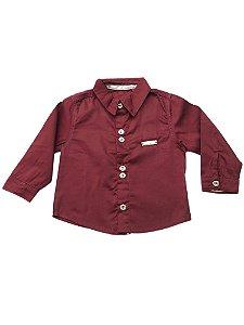 Camisa Polo Bebê Menino Bordo Manga Comprida