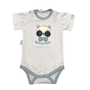 Body Bebê Menino Malha Branco com Bordado Lessa Kids