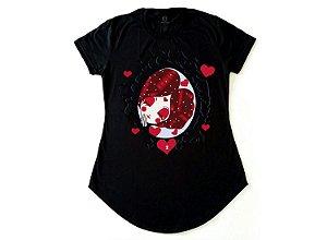 Camiseta Collab APE of GOD x D.Bizer espelho feminina preta