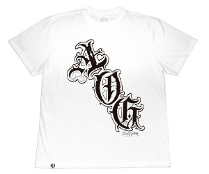 Camiseta Collab APE of GOD x Ink Art Tattoo AOG Branca